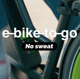 logo e-bike to go no sweat