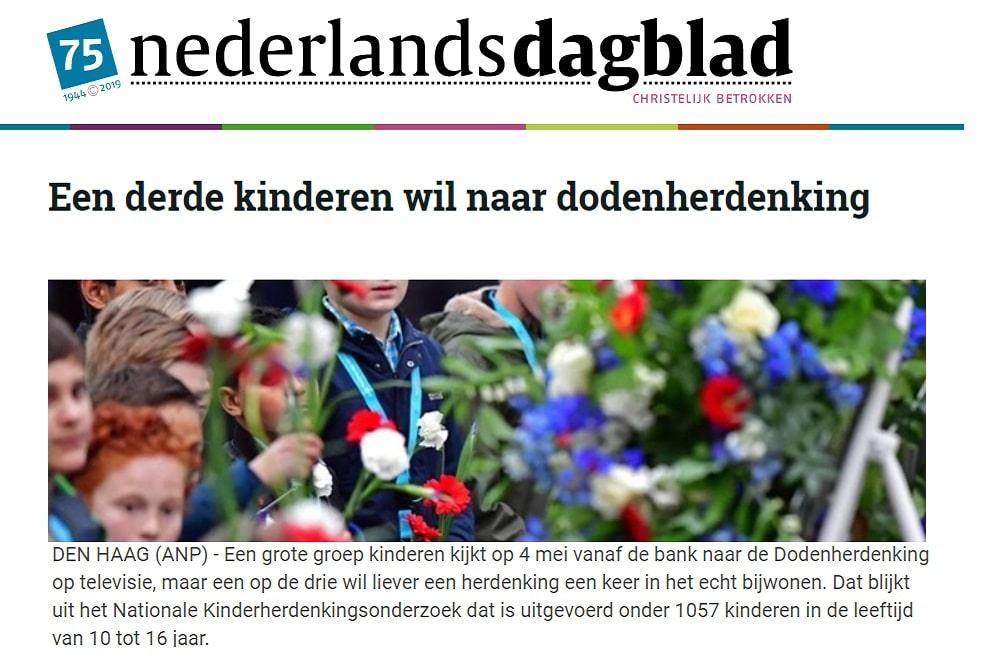 nederlands dagblad madurodam kinderherdenking