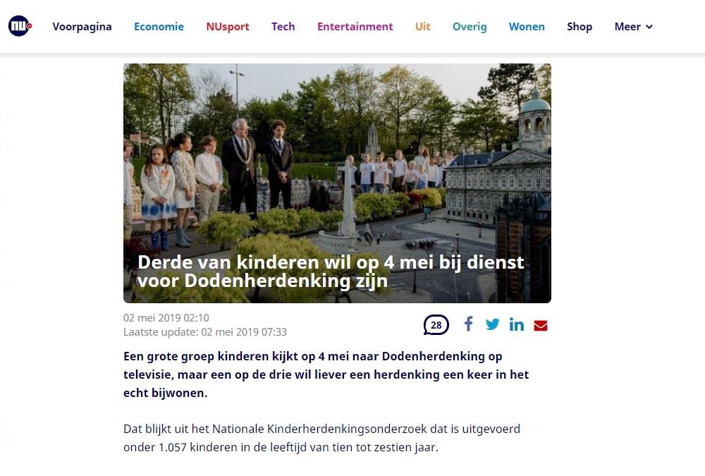 nu.nl Nationale kinderherdenking madurodam