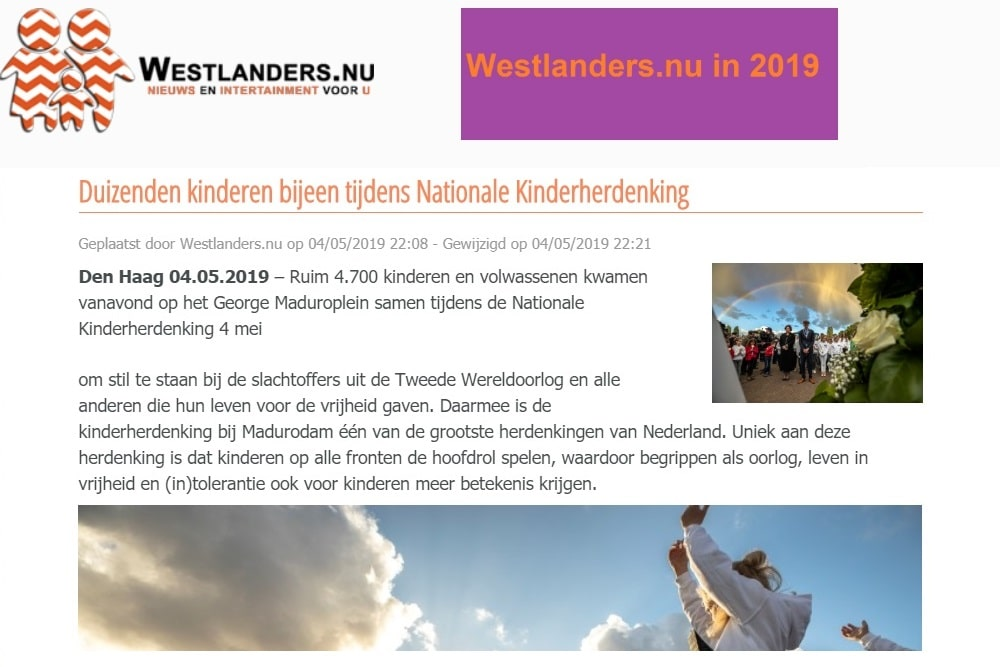 westlandersnu Kinderherdenking Madurodam