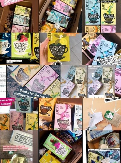 Clipper Teas productsampling influencers publiciteit