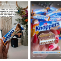 Influencer sampling PeanutBar Knoppers lancering